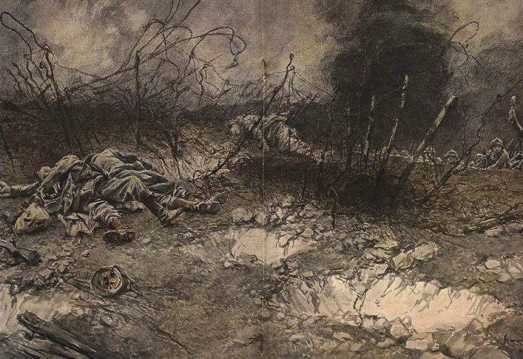 Prise du plateau de Californie , 5 mai 1917 -  François Flameng (Publiek Domein - wiki)