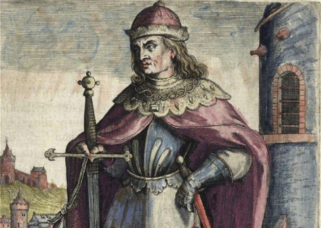 Fictief portret van hertog Jan II van Brabant door Adriaan van Baerland
