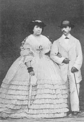 Isabella II en haar man in 1852