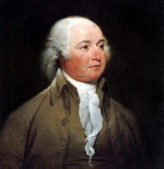 John Adams - Schilderij van John Trumbull (Publiek Domein - wiki)