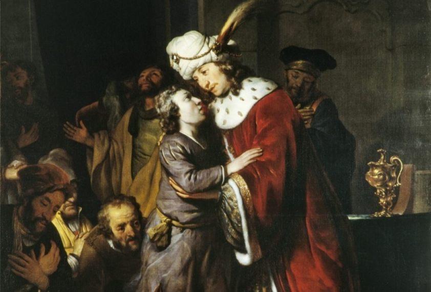 Jozef en zijn broer Benjamin (links)