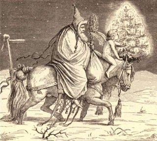 Knecht Ruprecht en het Christkind, 19e eeuw