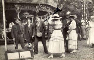 Kop-van-jut op de kermis in Amsterdam, 1917