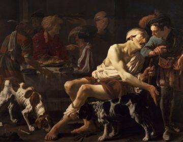 Lazarus en de rijke man - Hendrick ter Brugghen (Publiek Domein - wiki)