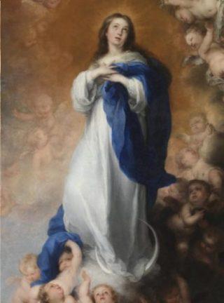 Maria, de onbevlekt ontvangene, 1678, Murillo (Prado Madrid - wiki)