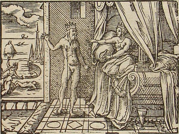 Morpheus verschijnt in de gedaante van Keyx aan Alkyone (Publiek Domein - wiki)
