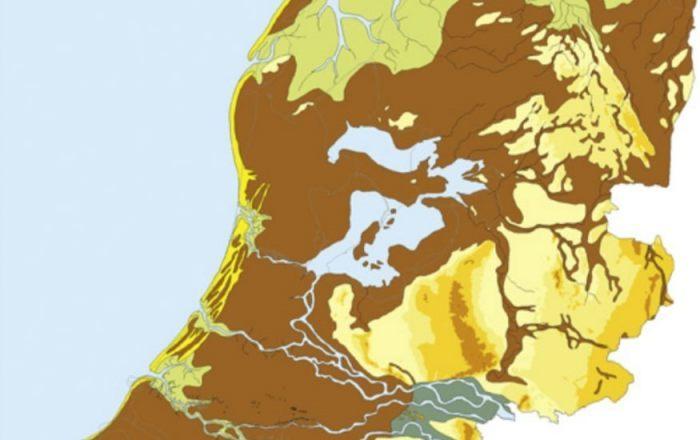 Nederland rond 500 v.Chr. (CC BY-SA 3.0 - RACM & TNO - wiki)