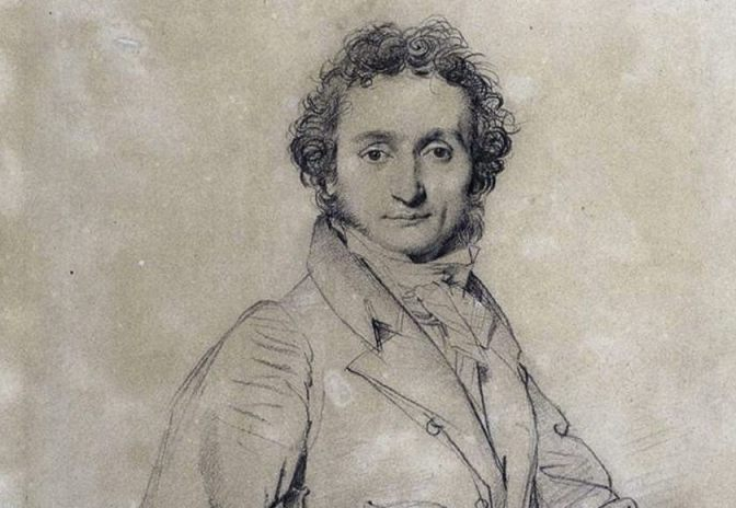 Niccolò Paganini in 1819, tekening van Jean-Auguste-Dominique Ingres