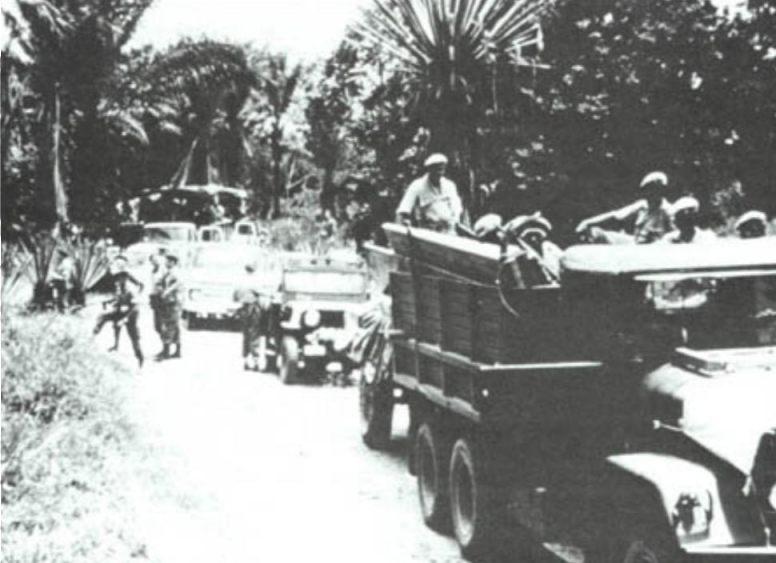 Troepen van l'Ommengang in opmars naar Stanleystad (Publiek Domein - wiki)