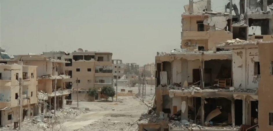 Vernielde gebouwen in Raqqa, Syrië - juni-oktober 2017 (Publiek Domein - wiki)