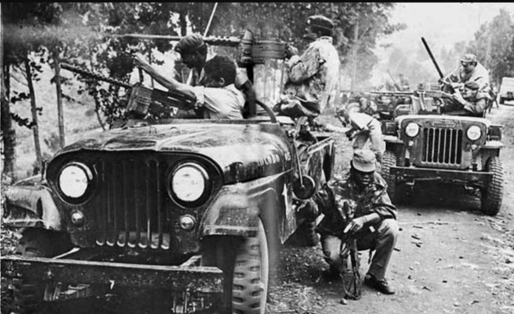ANC-troepen vuren op Simba-posities (Publiek Domein - wiki)
