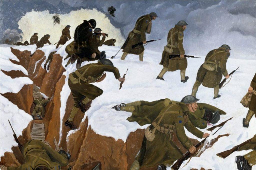 John Nash, 'Over the top' (1918) - wiki