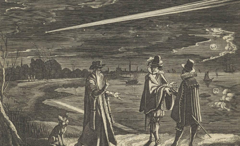 De verschijning van een komeet in november 1618, François Schillemans (verworpen toeschrijving), naar Adriaen Pietersz. van de Venne, 1618 - 1619
