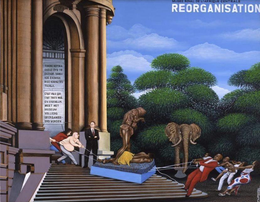 Contemporaine Afrikaanse kunst Chéri Samba, Réorganisation, 2002 (© RMCA)