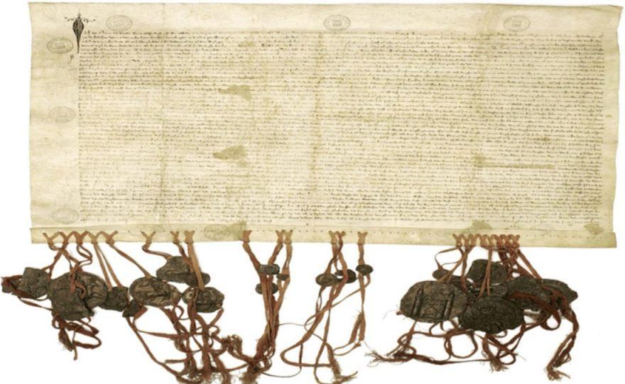 Keure van Kortenberg - Charter van Kortenberg (1312). Oorkonde uit het Leuvense stadsarchief. (Publiek Domein - wiki)
