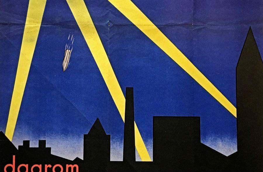 Detail van een Duitse propagandaposter (collectie Stichting OorlogsVerzetsmuseum Rotterdam)
