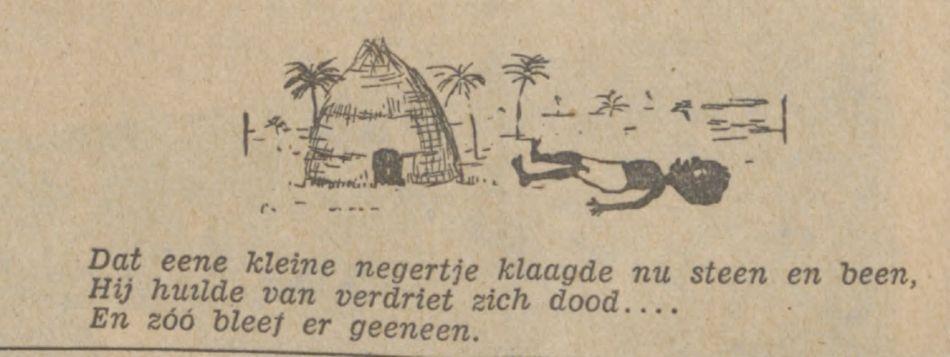 Verbeelding van een versie van het laatste couplet (De Tijd : godsdienstig-staatkundig dagblad, 15-08-1930) - Delpher