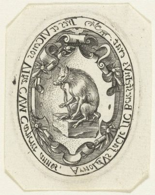 Het wapen van de familie Van Beresteyn. Afdruk van een medaillon uit 1579 (Rijksmuseum, Amsterdam)