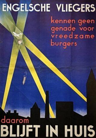 Het in het najaar van 1940 door de Duitsers uitgegeven affiche dat in verband met het Luftwaffe-bombardement op Rotterdam van 14 mei 1940 veel reacties uitlokte. (collectie Stichting OorlogsVerzetsmuseum Rotterdam)