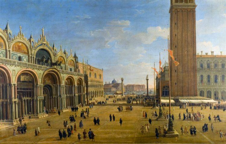 Caspar van Wittel, Piazza San Marco, ca. 1700, olieverf op doek, 71 x 123 cm, Casa Medinacelli, Sevilla