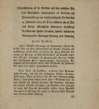 Deel van de Vrede van Kiel - Engelse vertaling (Publiek Domein - wiki)