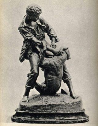 Jupille, in gevecht met een hond (CC BY 4.0 - Wellcome images - wiki)