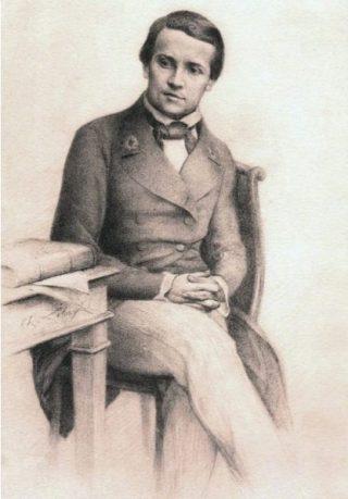 Louis Pasteur in 1845 - Charles Lebayle.