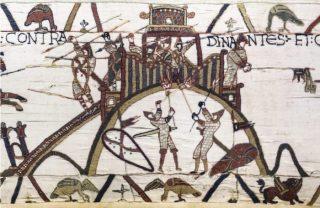 Mottekasteel op het tapijt van Bayeux (Publiek Domein - wiki)