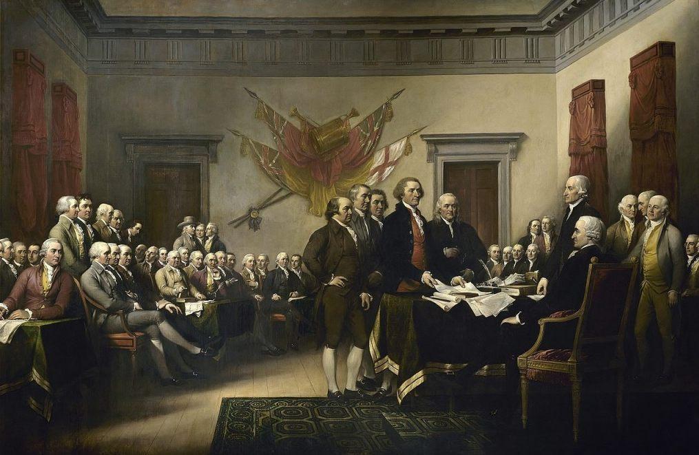 Ondertekening van de Declaration of Independence - John Trumbell