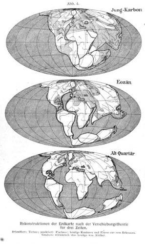 Pangea - Continentverschuiving volgens Alfred Wegener