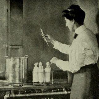 Pasteurisatie, begin 20e eeuw (Publiek Domein - wiki)