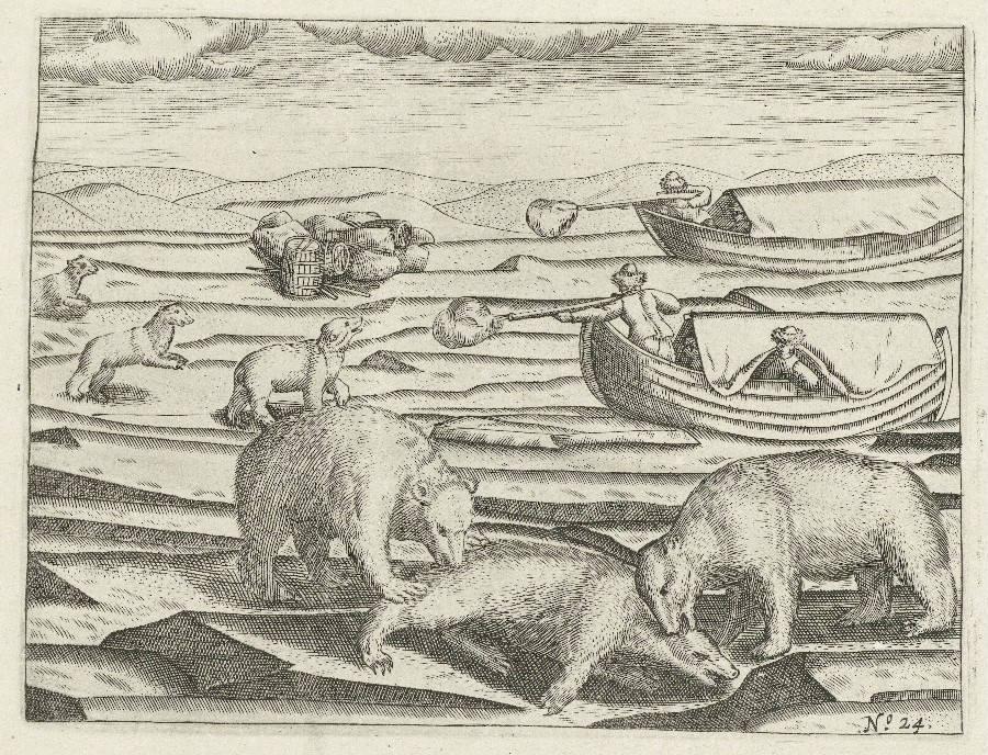 Afbeelding uit het dagboek van Gerrit de Veer (Rijksmuseum Amsterdam)