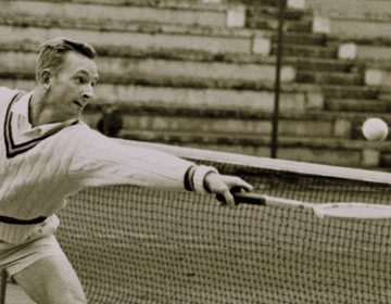 Rod Laver in 1962 (Publiek Domein - wiki - AP Photo - Arianna Cavallo)