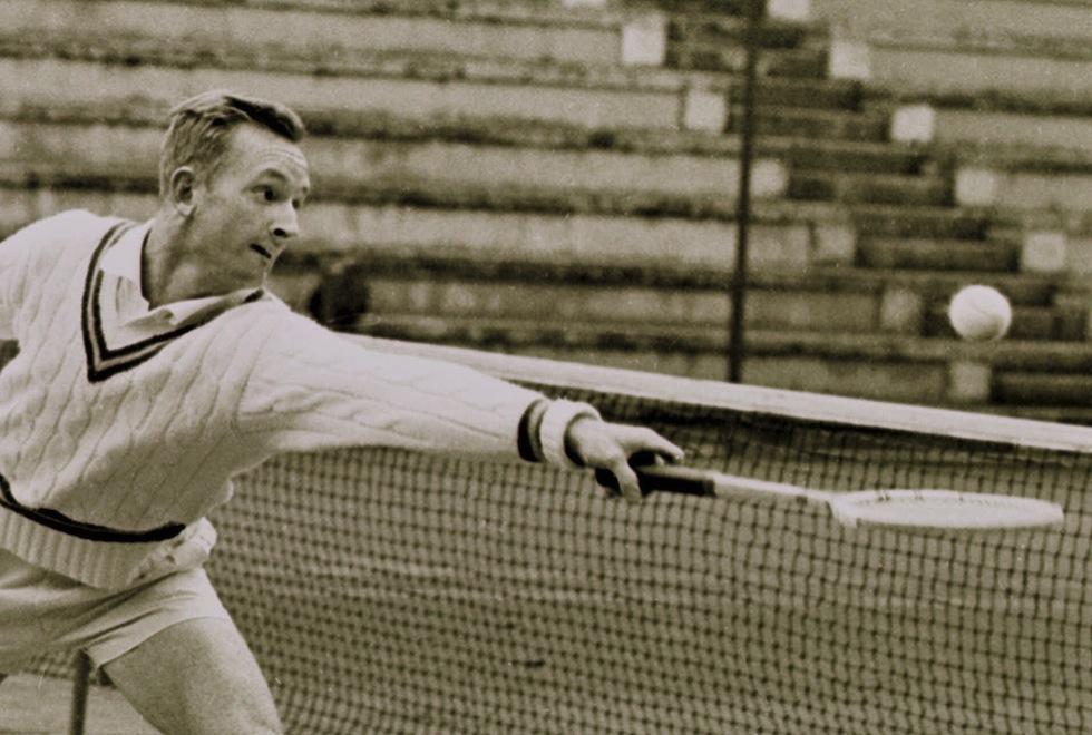Rod Laver in 1962 (Publiek Domein - wiki - AP Photo - Arianna Cavallo)