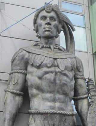 Standbeeld van Shaka Zoeloe in Camden Market in London (Publiek Domein - wiki)
