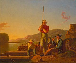The Wood-boat, 1850 - George Caleb Bingham