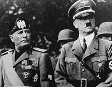 Totalitarisme - Mussolini en Hitler