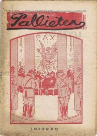 Verdrag van Locarno volgens het Vlaamse satirische weekblad Pallieter