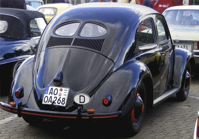 Volkswagen Kever uit de jaren vijftig