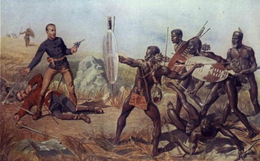 Zoeloes tijdens de Slag bij Isandlwana
