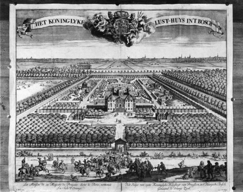 Huis ten Bosch aan het eind van de 17e eeuw, gezien vanuit het noordwesten