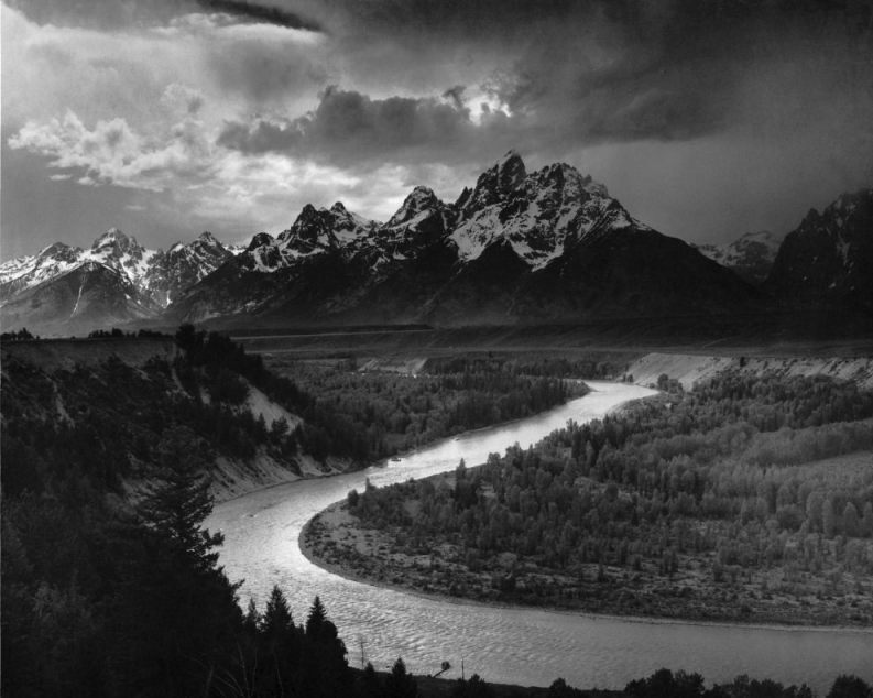 Foto van Ansel Adams - The Tetons and the Snake River, 1942