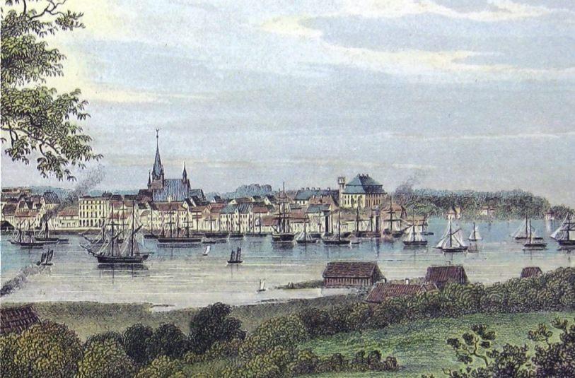 Vrede van Kiel - Kiel in 1855 (Publiek Domein - wiki)