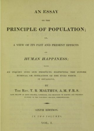 An essay on the Principle of Population - Thomas Malthus (Publiek Domein - wiki)