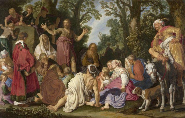 'De prediking van Johannes de Doper' - Pieter Lastman, 1627 Detail van het werk ('De prediking van Johannes de Doper' - Pieter Lastman, 1627 (Den Haag, Mauritshuis)