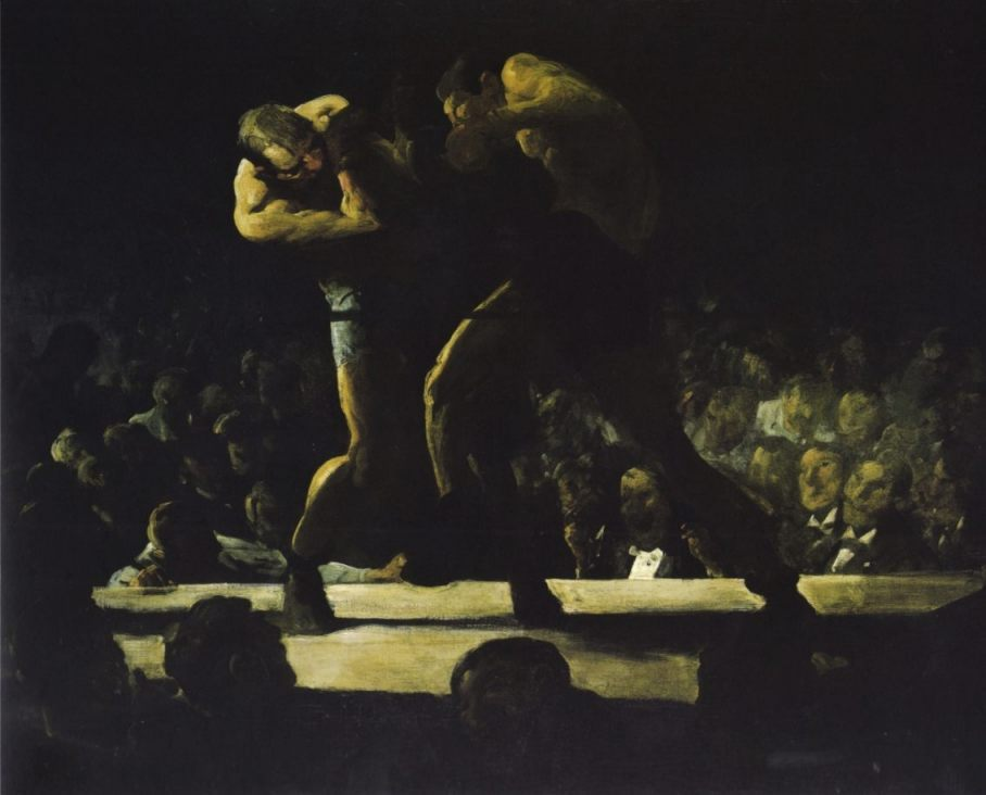 Night in the Club, 1907 - George Bellows (Publiek Domein - wiki)