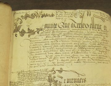 Mortmain rekening september 1438 september 1439 (Archives departementales du Nord à Lille bestand B 12206 folio 1)