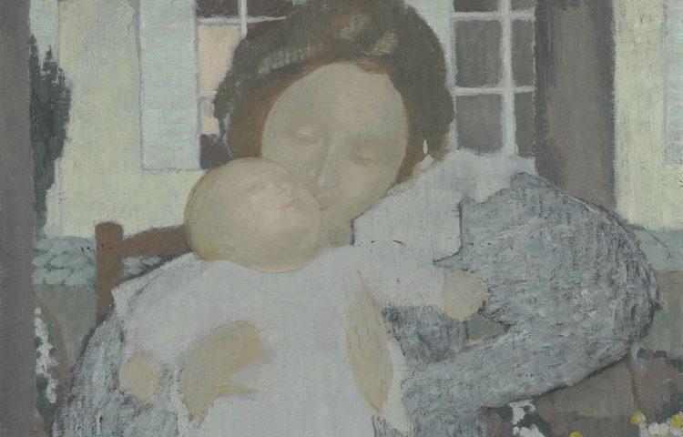 Maurice Denis (1870 – 1943), Moederschap (Vierge au baiser) - detail, 1896-1897, olieverf op doek, Van Gogh Museum, Amsterdam