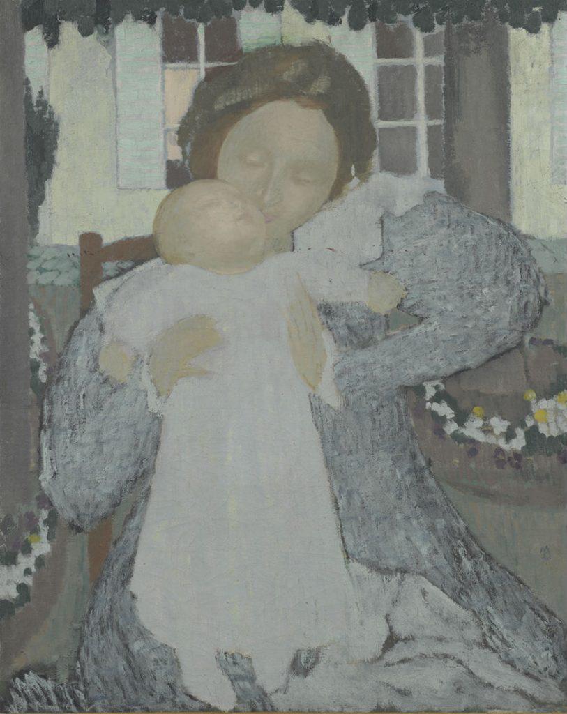 Maurice Denis (1870 – 1943), Moederschap (Vierge au baiser), 1896-1897, olieverf op doek, Van Gogh Museum, Amsterdam
