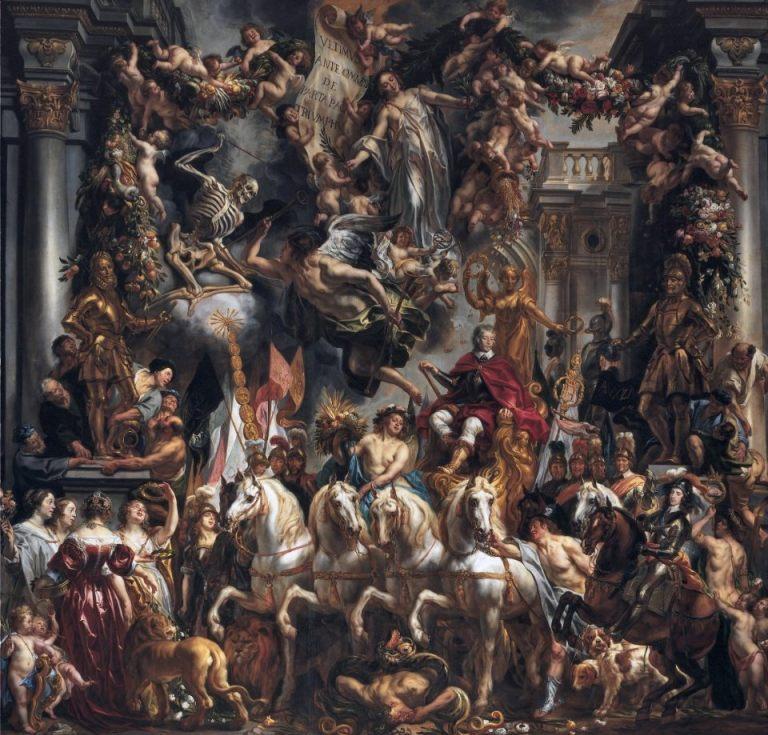 Triomf van Frederik Hendrik, het grootste schilderij in de Oranjezaal, van Jacob Jordaens